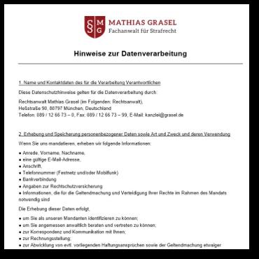 Strafverteidiger Grasel Fachanwalt Für Strafrecht München Formulare